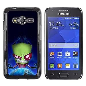 Paccase / Dura PC Caso Funda Carcasa de Protección para - Green Monster Evil Ufo Alien Villain Earth Planet - Samsung Galaxy Ace 4 G313 SM-G313F