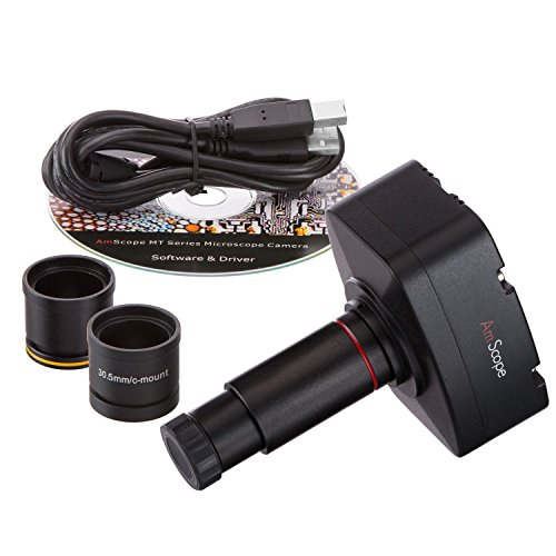 AmScope 10MP Photo Video Microscope Camera with Calibration Kit Compatible with 2000/XP/Vista/7 and Mac OS 10.6 & Higher by AmScope