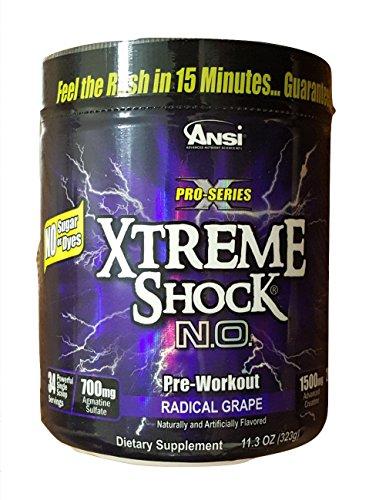 ANSI Xtreme Shock N.O. Powder, 323 g, 34 servings (Radical Grape)