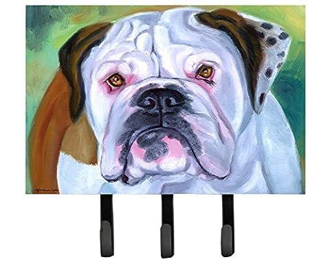 Caroline's Treasures 7350TH68 Miss English Bulldog Leash or Key Holder, Large, Multicolor - Bulldog Leash Hook