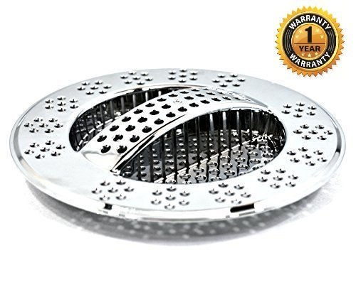 amazoncom hydroswift fast draining kitchen sink strainer replaces sink basket sink strainer basket food cover mesh saves on waste management - Kitchen Sink Strainer