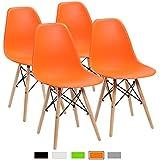 Amazon Com Orange Chairs Kitchen Dining Room Furniture Home