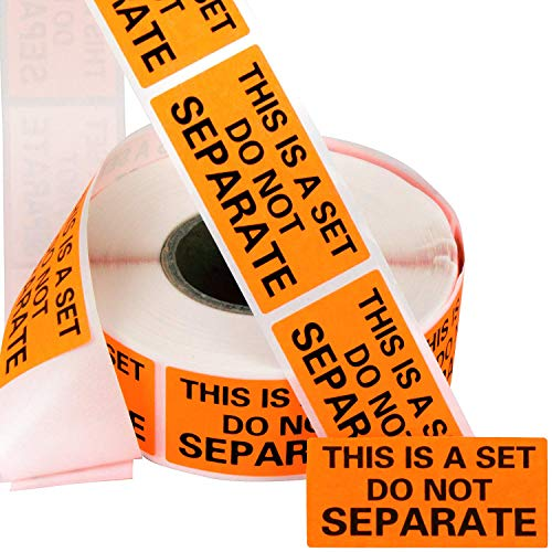 Eucatus Super Adhesive This Is A Set Do Not Separate Stickers 6 Pack. Bulk (3000 Total) Perforated 1 x 2 Self-Adhesive, Sold As Set Labels. FBA-Approved Shipping Supply. Eye-Catching Orange Color (6)