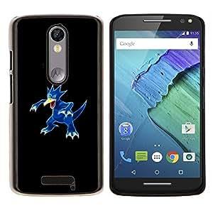 Meter Monster Blue Duck- Metal de aluminio y de plástico duro Caja del teléfono - Negro - Motorola Droid Turbo 2 / Moto X Force