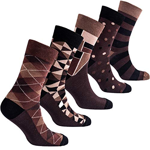 Socks n Socks-Mens 5pair Luxury Colorful Cotton Fun Novelty Dress Socks Gift Box