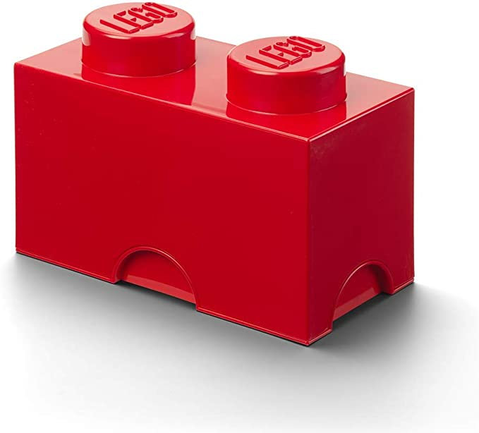 LEGO Red 2x3x2 Container Piece with Translucent Light Blue Door