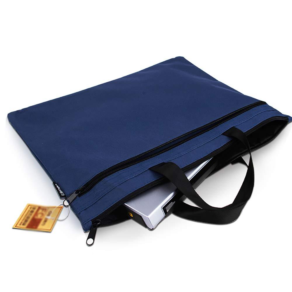 File Shelf JIE AJS Bolsa De Documentos, Bolsa para De Almacenamiento Doble para Bolsa Oficina, Bolsa De Negocios Portátil, Bolsa De Compras A+ (Color : Azul) f7fe32