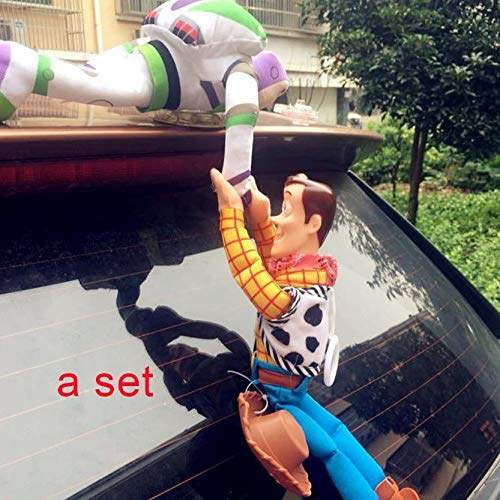 BoldType Kakao Friend - Lovely Toy Story Sherif Woody Car Doll Plush Toys Outside Hang Toy Cute Auto Accessories Car Decoration Toy 25/35/45CM 1 PCs -