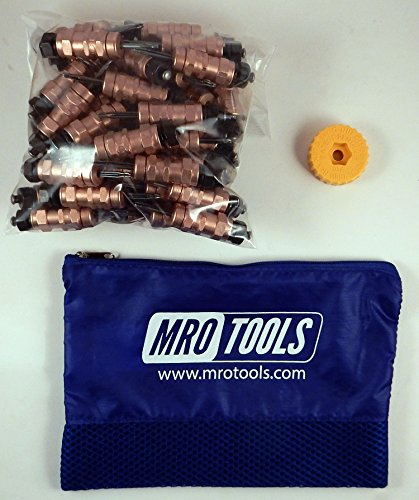 50 1/8 Standard Hex-Nut Cleco Fasteners w/ HBHT Tool & Carry Bag (KHN1S50-1/8) by MRO Tools Cleco Fasteners
