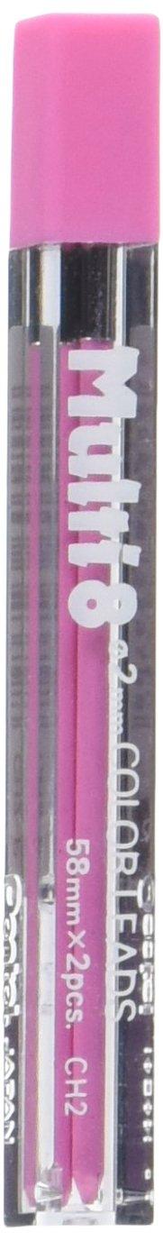 Pentel 2 Minas (1 Tubos) 2mm  Rosa