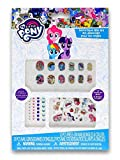 My Little Pony Decorative Nail Stickers Play Set with MLP Favorite Characters Rainbow Dash, Twilight Sparkle, Pinkie Pie, Rarity, and More!