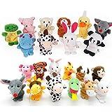 22 pcs Plush Animals Finger Puppet Toys - Mini Plush Figures Toy Assortment For Kids