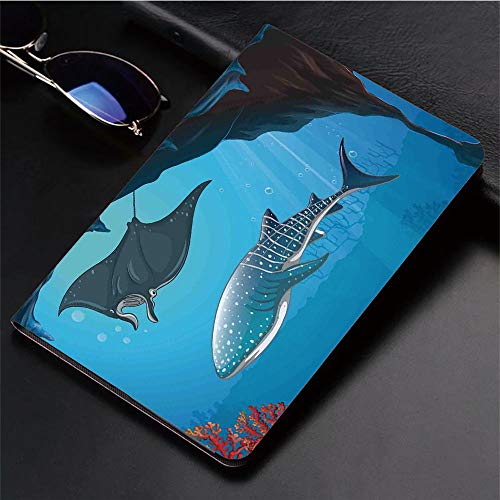(Compatible with iPad 2/3/4 Case,Water Stingray with Coral Reefs Algae Rocky Cave,Slim Anti-Scratch Shell Auto Sleep/Wake,3D Printed Protection Apple iPad 9.7