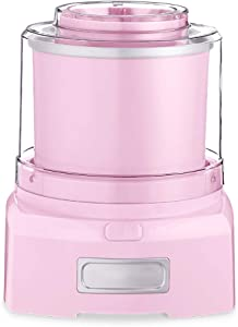 WENMIN Automatic Ice Cream Machine, Internal and External Double-Layer Thermal Insulation, Quick Freezing and Even Ice Cream Machine 1.5L Gold Capacity is Suitable for Home,Pink
