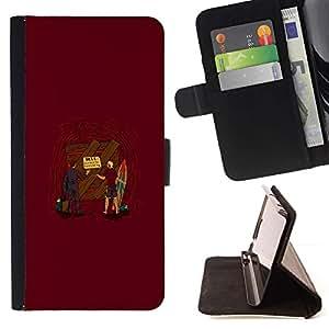 Momo Phone Case / Flip Funda de Cuero Case Cover - Entrance To Hell - Apple Iphone 5C