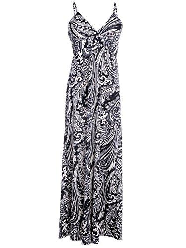 Swirl Print Dress (Anna-Kaci S/M Fit Black All Over Paisley and Swirl Print Empire Waist)