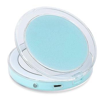 e9e7336da Espejo de Bolsillo, Espejo Portátil de Maquillaje Con Aumentos 3X, Espejo de  Mano,