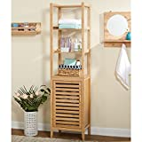 Simple Living Tan Bamboo Linen Tower