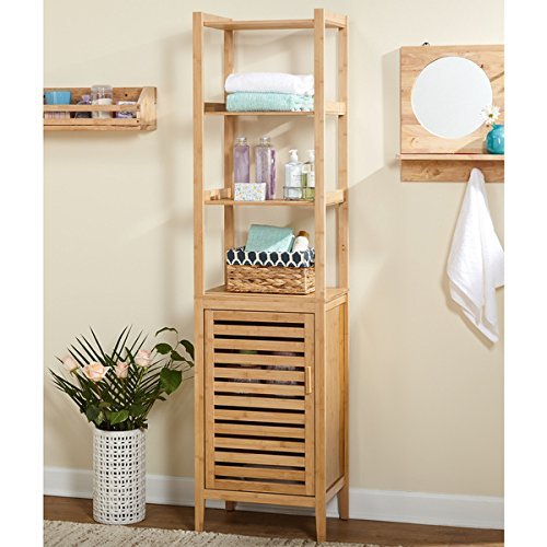 Simple Living Tan Bamboo Linen Tower by Simple Living