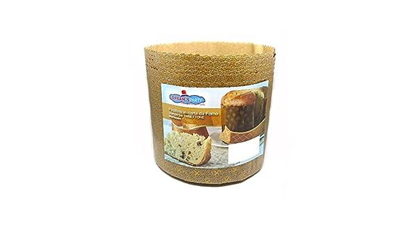 Molde Panettone 500g Alto - 10 piezas - pirottino desechable de papel de horno - Ideal para panettoni, Panettone gastronomico, tartas de Navidad, ...