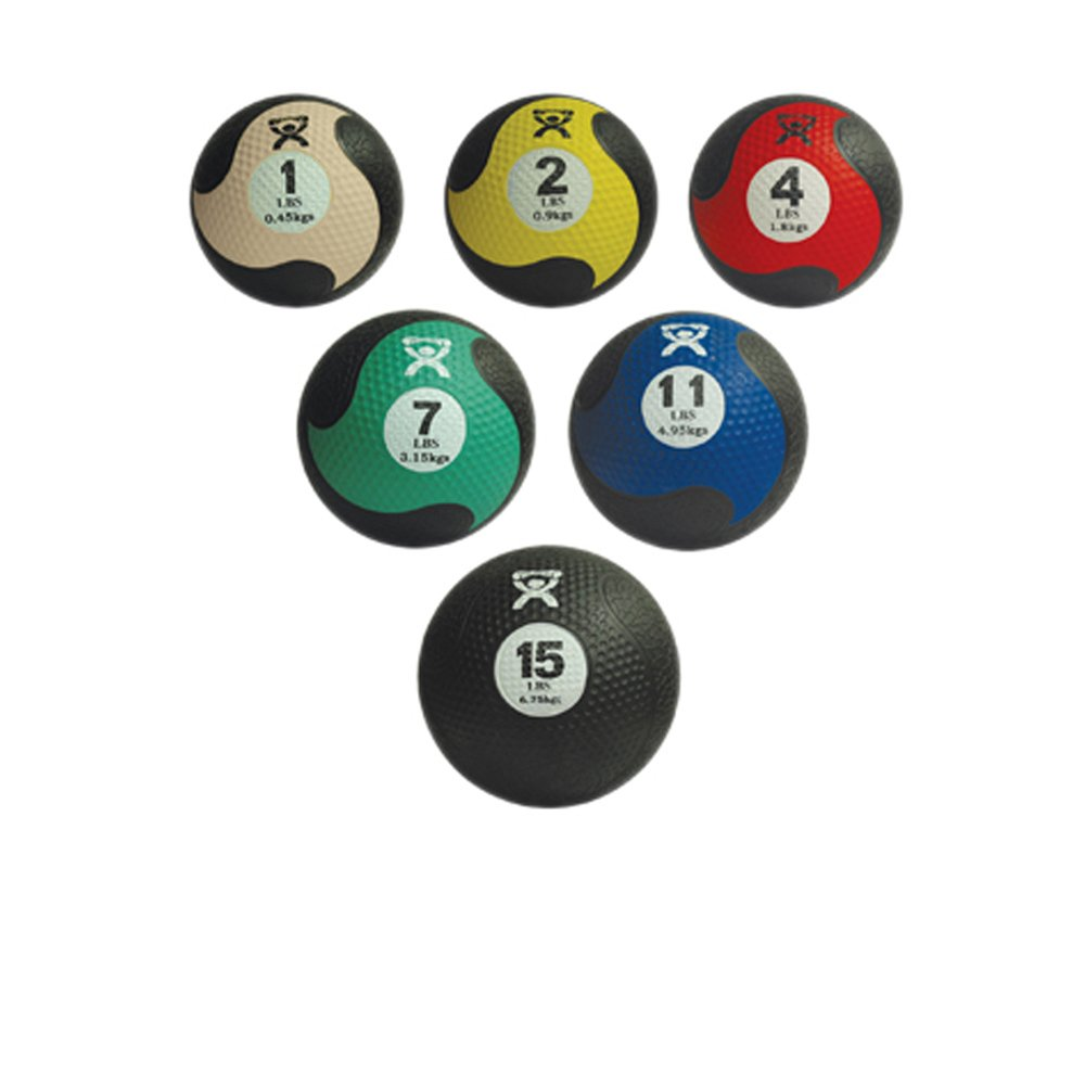 Cando Massage Fitness Equipment Firm Medicine Ball - 5-Piece Set - 1 Each: 2,4,7,11,15 Lb
