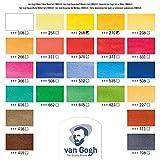 Van Gogh Watercolor Paint Set, Metal Tin, 24-Half