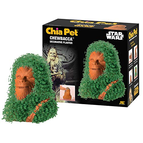 Chia CP430-01 Pet Star Wars Chewbacca with Seed Pack Decorative Pottery Planter, Easy to Do and Fun to Grow