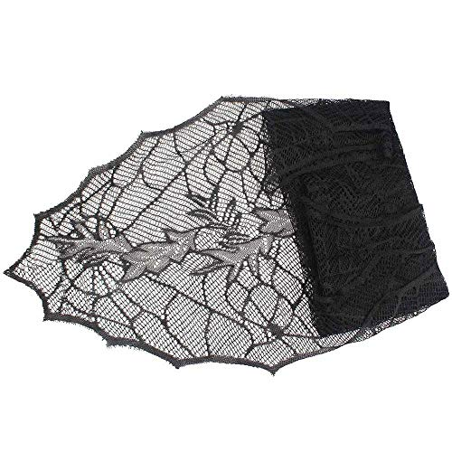 RubyShopUU OurWarm 1pc 188x55cm Halloween Decoration Tablecloth Black Leaf Table Cover Table Runners Halloween Party Supplies]()