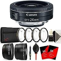 Canon EF-S 24mm f/2.8 STM Lens + 52mm Macro Kit + Telephoto & Wide Angle Lens + Lens Pen + Dust Blower + 100 Lens Tissue + 3pc Cleaning Kit