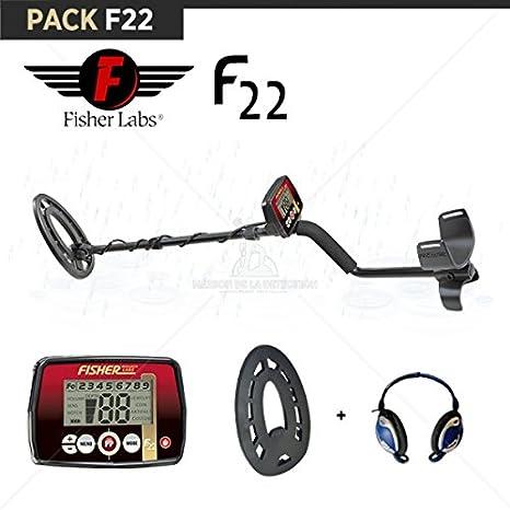 FISHER-Detector de metal F22: Auriculares protege disco: Amazon.es: Jardín