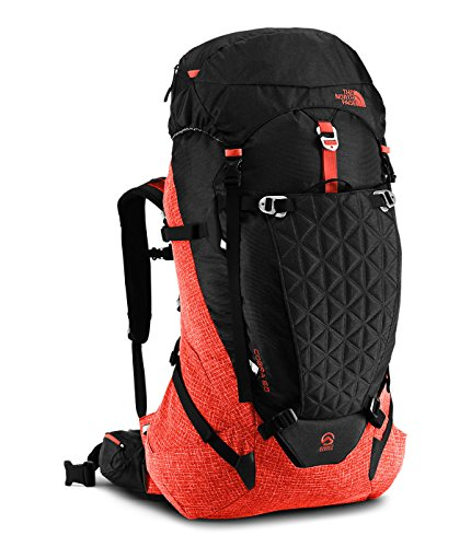 The North Face Cobra 60 Pack (TNF Black/Acrylic Orange Heather, Small/Medium)