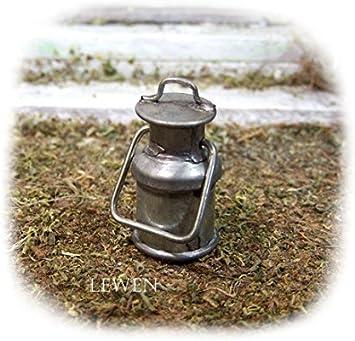 Milchkanne rostig aus Blech Höhe 2,5 cm Größe ca Krippenzubehör