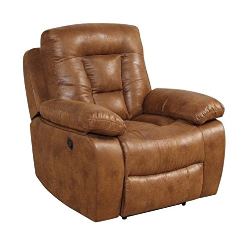 Coaster Home Furnishings Coaster 601866 Glider Recliner, Saddle, Evensky Motion Collection (Saddle Reclining Sectional)