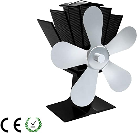 HLDUYIN Ventiladores para Chimeneas Estufa De Leña Calor Ventilador Estufa De Leña Ventilador para Madera Quemador De Troncos Ultra Silencioso Aumenta 40% Más Aire Caliente Que 4 Blade,Silver: Amazon.es: Hogar