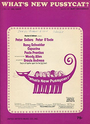 What's New Pussycat Theme Movie Same Burt Bacharach Sheet Music