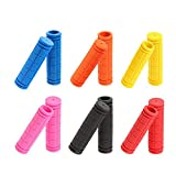 Mountain Bike Handlebar Grips Soft Rubber Anti Slip With Lock On Ends Handlebar Plugs For Mtb Bmx Road Bike Bicycle Accessories 10 Colors (Black)