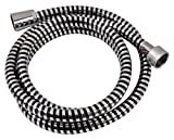 EVIDECO Modern Biflex Flexible Pvc Shower Hose, 59'', Black/Silver