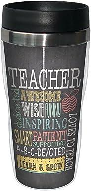 Tree-Free Greetings 78220 Jo Moulton Awesome Teacher Sip 'N Go Stainless Lined Travel Mug, 16-O