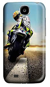 Biker Looking Back Polycarbonate Hard Back Case Cover for Samsung Galaxy S4 SIV I9500
