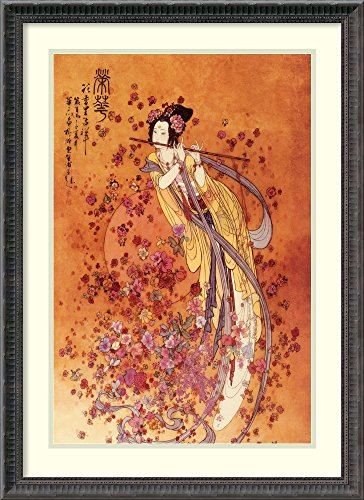 Framed Wall Art Print | Home Wall Decor Art Prints | Goddess of Prosperity by Chinese | Traditional Decor ()