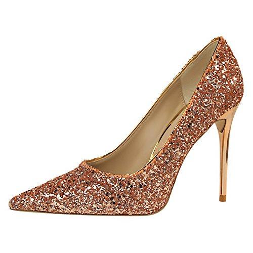 Mujer Pisos de QXH Sandalias Zapatos Cuero Se al de qx7F6TE