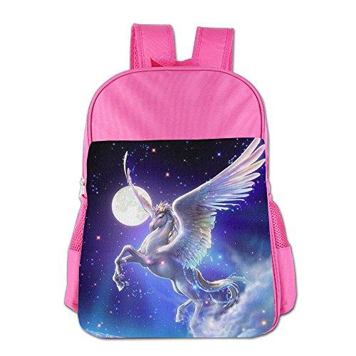 Lightweight Student Backpack Comics Pegasus Kids School Backpack Fashion Travel Daypack Pink
