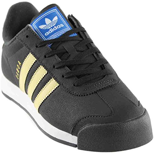 Adidas Originals Women's Samoa Fashion Sneakers Dark Grey/Yellow (Large Image)