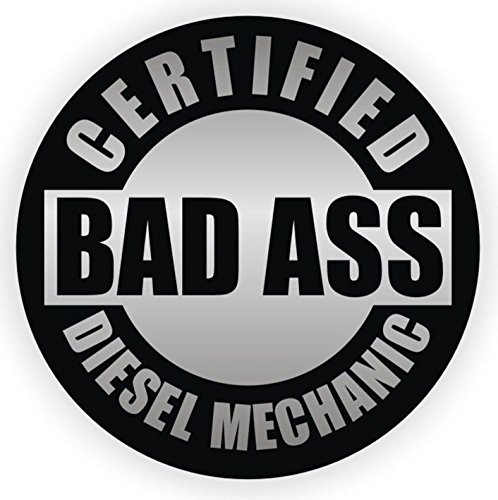 Crown Gas Mixer (1-Pc First-Rate Unique Certified Bad Ass Diesel Mechanic Window Stickers Mac Macbook Laptop Luggage Wall Graphics Oil Helmet Hard Hat Decor Vinyl Art Sticker Decal Patches Size 2