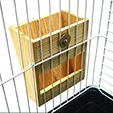 Emours Wooden Hay Manager Grass Feeder Haystack for Rabbits Chinchillas Guinea Pigs