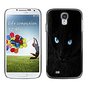 Be Good Phone Accessory // Dura Cáscara cubierta Protectora Caso Carcasa Funda de Protección para Samsung Galaxy S4 I9500 // Blue Eye Black Cat
