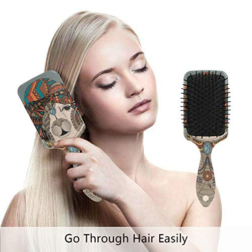 Hair Brush Natural Boar Bristle Hairbrush Alpaca Adult Coloring Page Air Cushion Plastic Comb for Women Girls Men to Reduce Hair Breakage Anti Static by domook ()