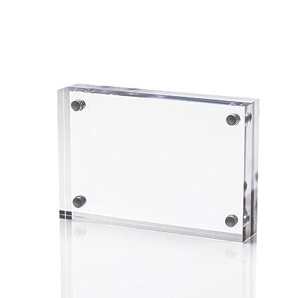 Amazoncom Display4top Acrylic Magnet Photo Frame Double Sided