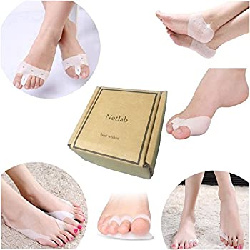 Netlab 12 PCS medical grade toe separators foot care pads disease protection foot massager bunion metatarsal hallux valgus protector