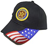 American Legion Baseball Cap Black Hat Custom Non-official Patriotic Design
